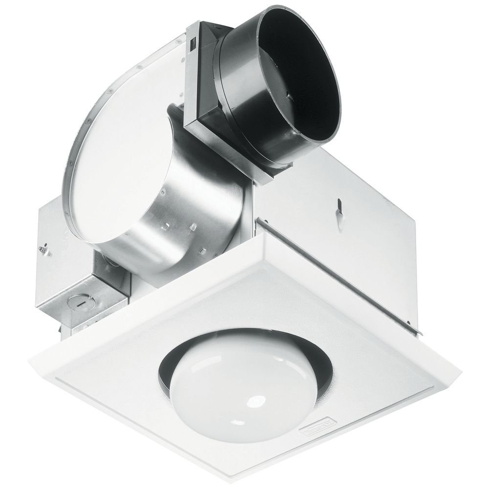 bathroom 70 cfm exhaust fan with heat lamp and light at destination lighting