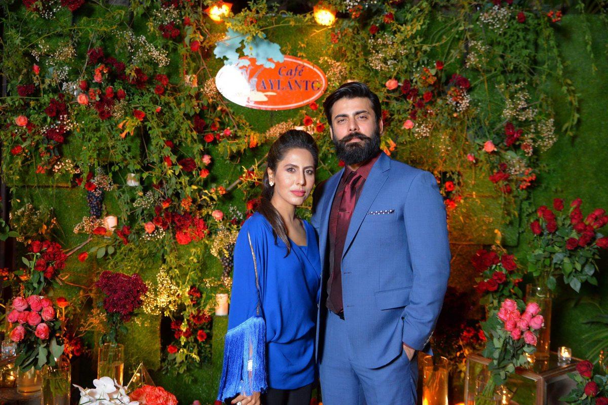 Sobia Nazir and Fawad Khan at Café Aylanto