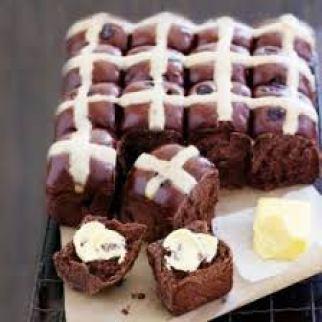 chocolate-hot-cross-buns