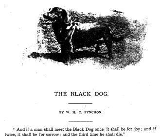 Câinele negru fantomă din Hanging Hills