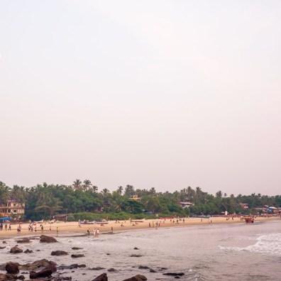 View over Arambol beach