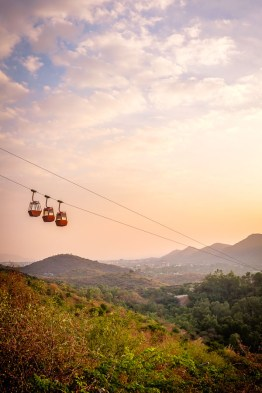 Cable car to sunset point Udaipur