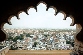 View over the new city of Udaipur