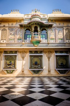 Golden square inside the Udaipur palace