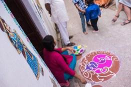 Rangoli design for Diwali