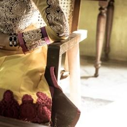 Details of a beautiful dress