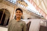 Our very enthousiast guide at Mandir Shri Ramchandraji