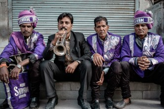 Music band having a rest