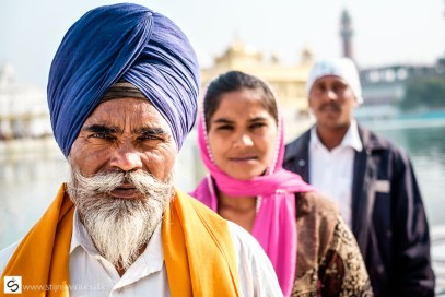A Sikh, his wife and the servant