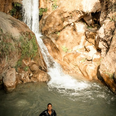 Swimming in the natural pools of the Neergarh waterfall
