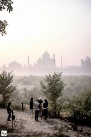 Photography students at Taj Mahal