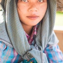 Pretty working girl in Naypittaw