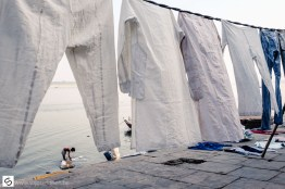 Washing clothes in the Ganges