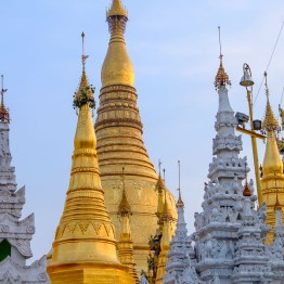 Shwedagon pagoda in center of Yangon