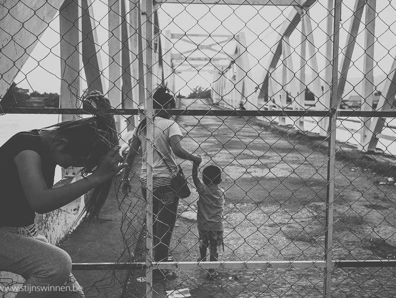 Crossing the old bridge