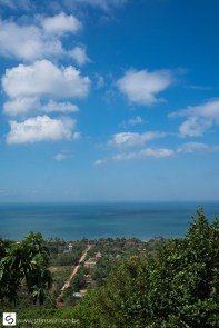 View from the mountain to the sea