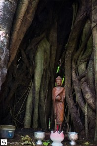 Buddhist altar in the tree