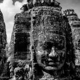 Bayon temple large heads