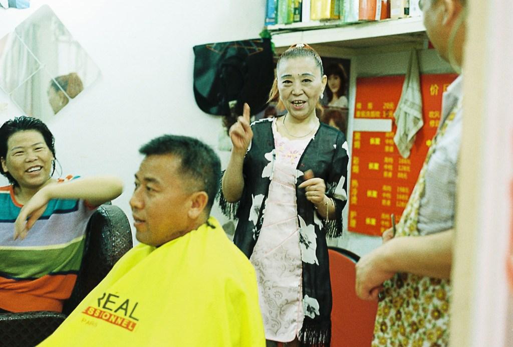 Cabeleireiro na China