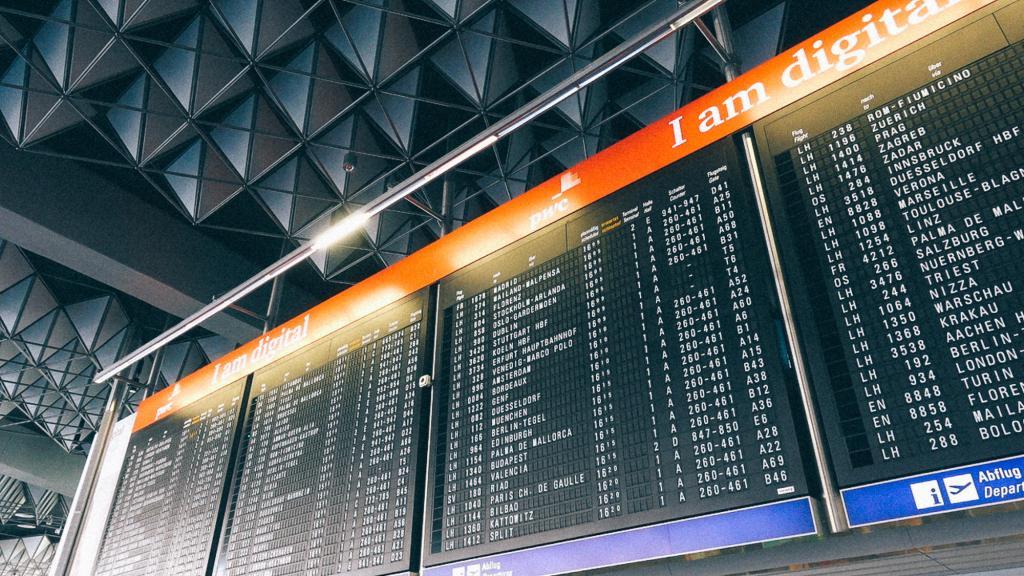 Como escolher um bom produto da China? Placa de aviso voos em aeroporto