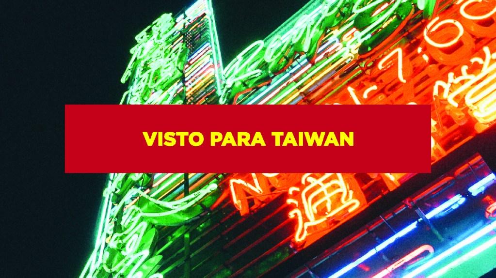 Visto para Taiwan Visto para Taiwan
