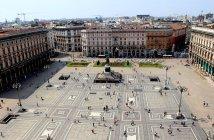 Panorâmicas da principal praça de Milão