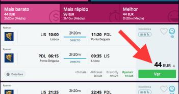 Voos low cost na Ryanair