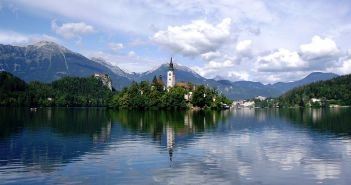 Lago Bled na Eslovénia