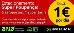 Parques do aeroporto da ANA em promoção desde 1 euro