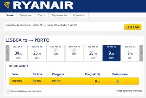Voos Domésticos na Ryanair por 9,99 euros
