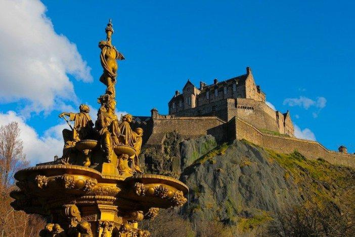 Vista panorâmica do Castelo de Edimburgo