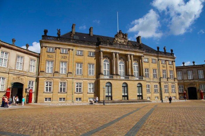 Vista frontal de Amalienborg