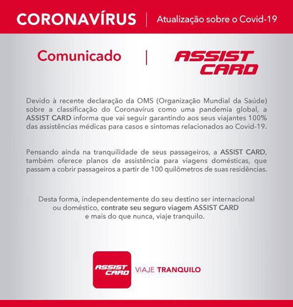 Assist Card - Coronavírus