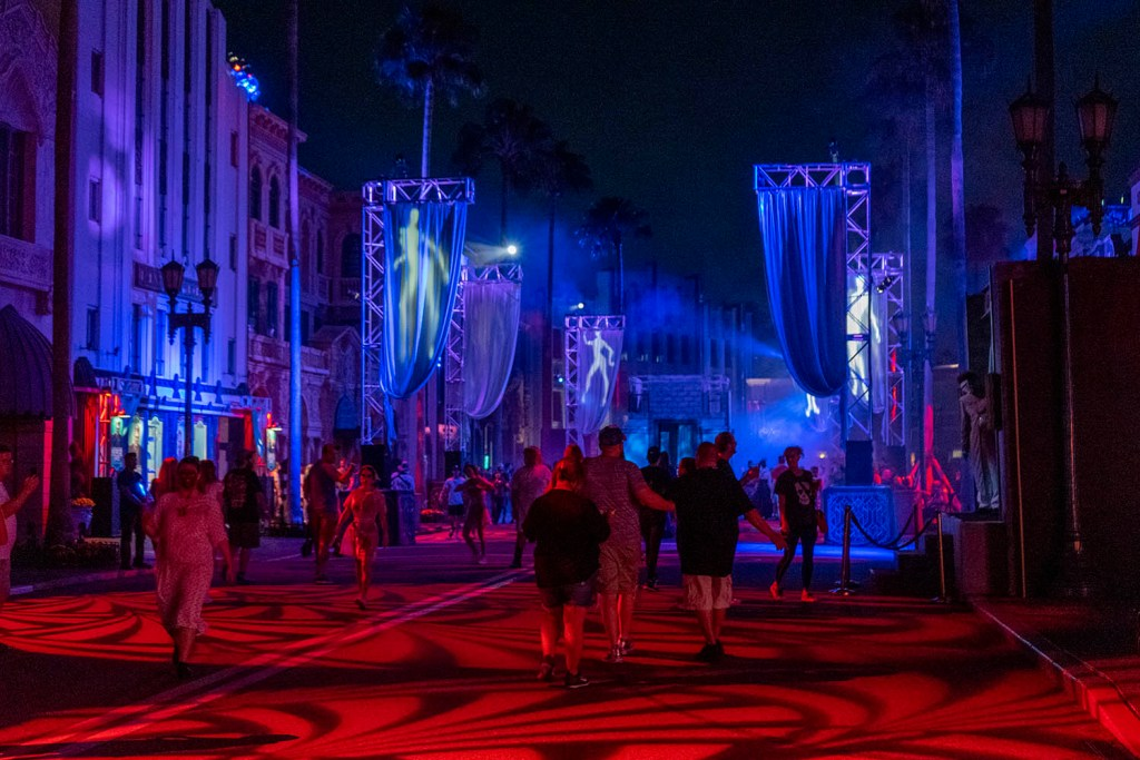 Ruas do Universal Studios durante o Halloween Horror Nights (Foto: Andy Spinelli)