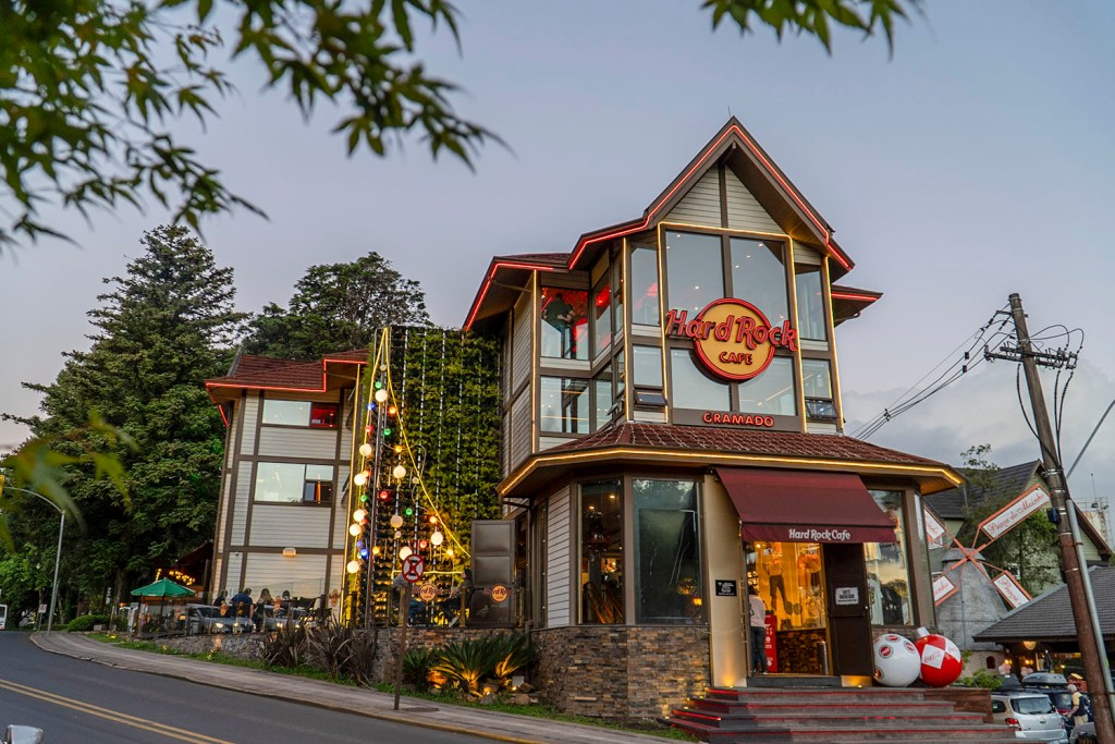 Fachada do Hard Rock Cafe Gramado (Foto: Andy Spinelli)