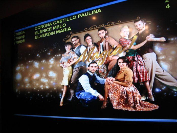 Cartaz de apresentação do espetáculo do Madero Tango