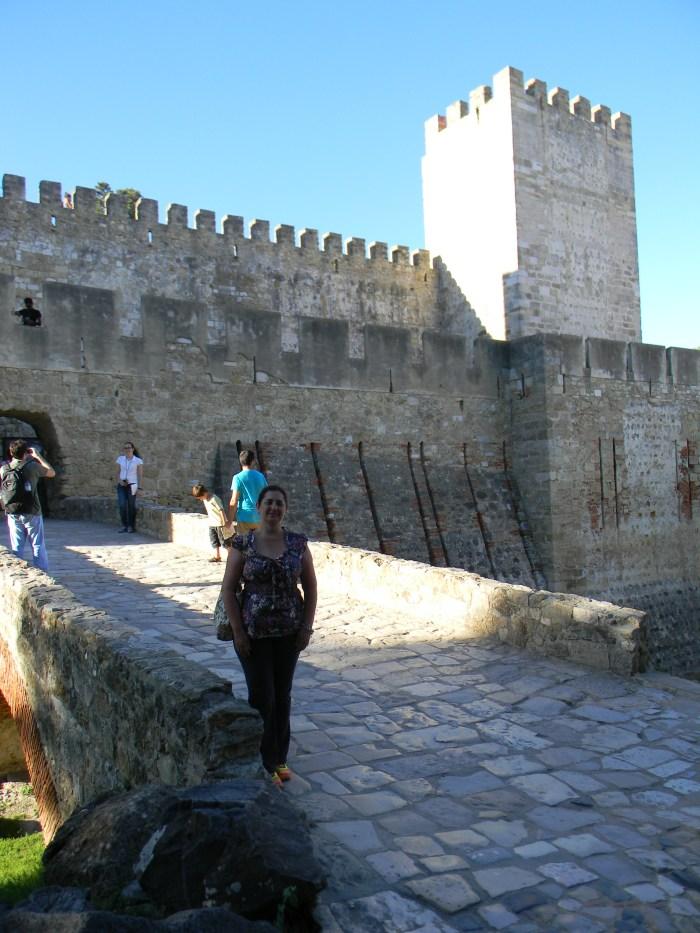 Ponte do Castelo de São Jorge em Lisboa