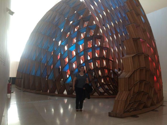 Estruturas lindas de madeira reciclada