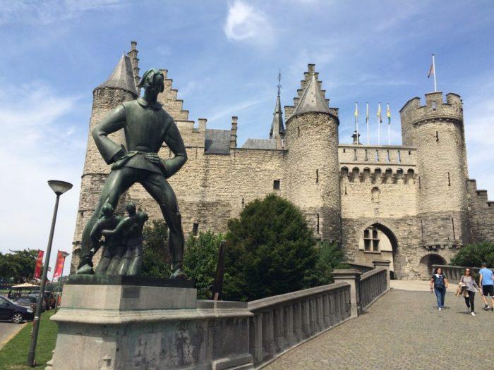 Castelo Steen em Antuérpia, Bélgica