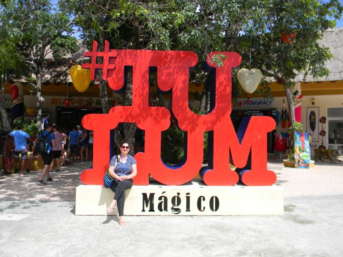 Olha eu em Tulum!!!