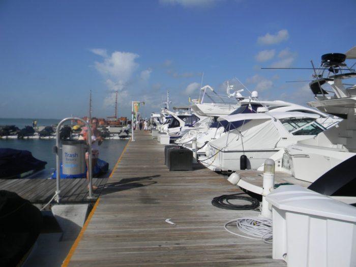 A Marina de onde partiu nosso barco em Cancun