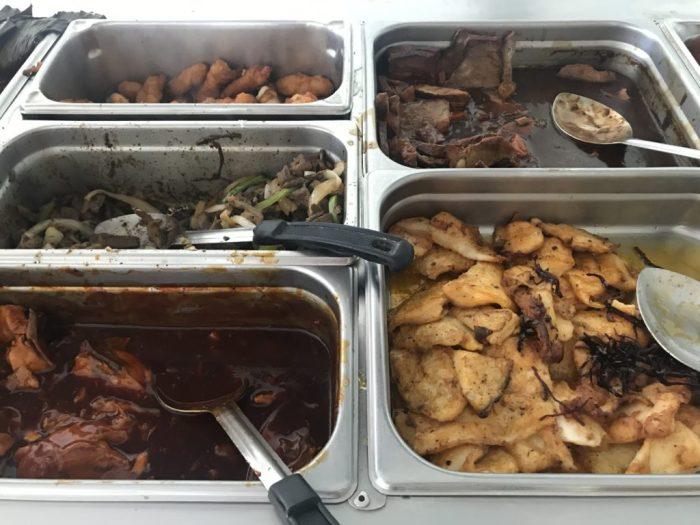 Buffet do restaurante do Garrafon, Isla Mujeres