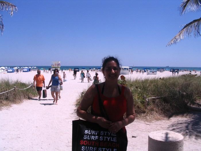 Dia de praia em Miami