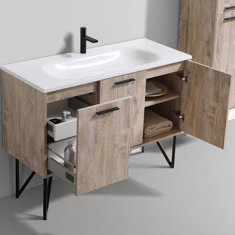 meuble salle de bain style loft en pack complet 120 cm