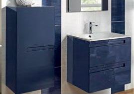 Meuble Sous Vasque Gp Infiny Bleu Nuit Pur 2 Portes Largeur 80cm Herblay