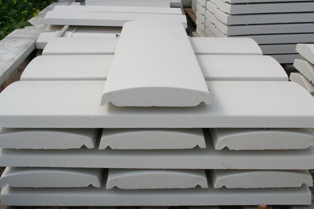 couvertine arrondie ton ivoire 100 x 32 x 4 cm alentour