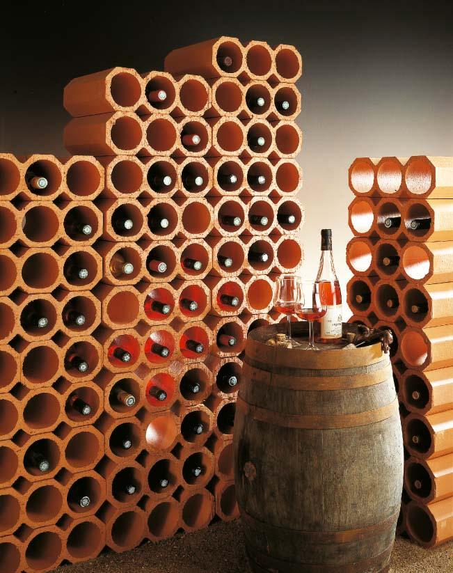 casier a bouteilles en terre cuite flammee 3 trous rairies montrieux