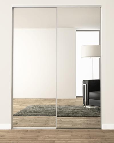 porte de placard coulissante miroir h 1500 2600 mm x l 1301 1600 mm