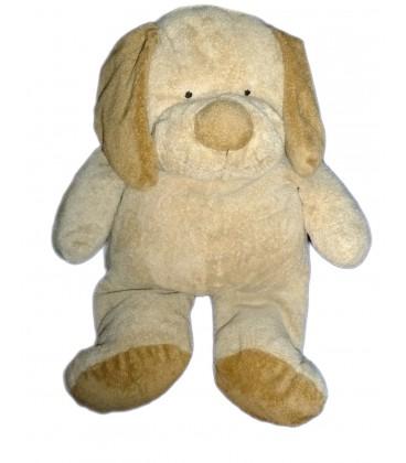 peluche doudou chien beige marron nicotoy orchestra kiabi collection baby h 30 45 cm