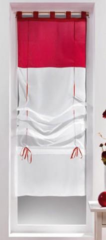 store voilage bicolore blanc rouge 1
